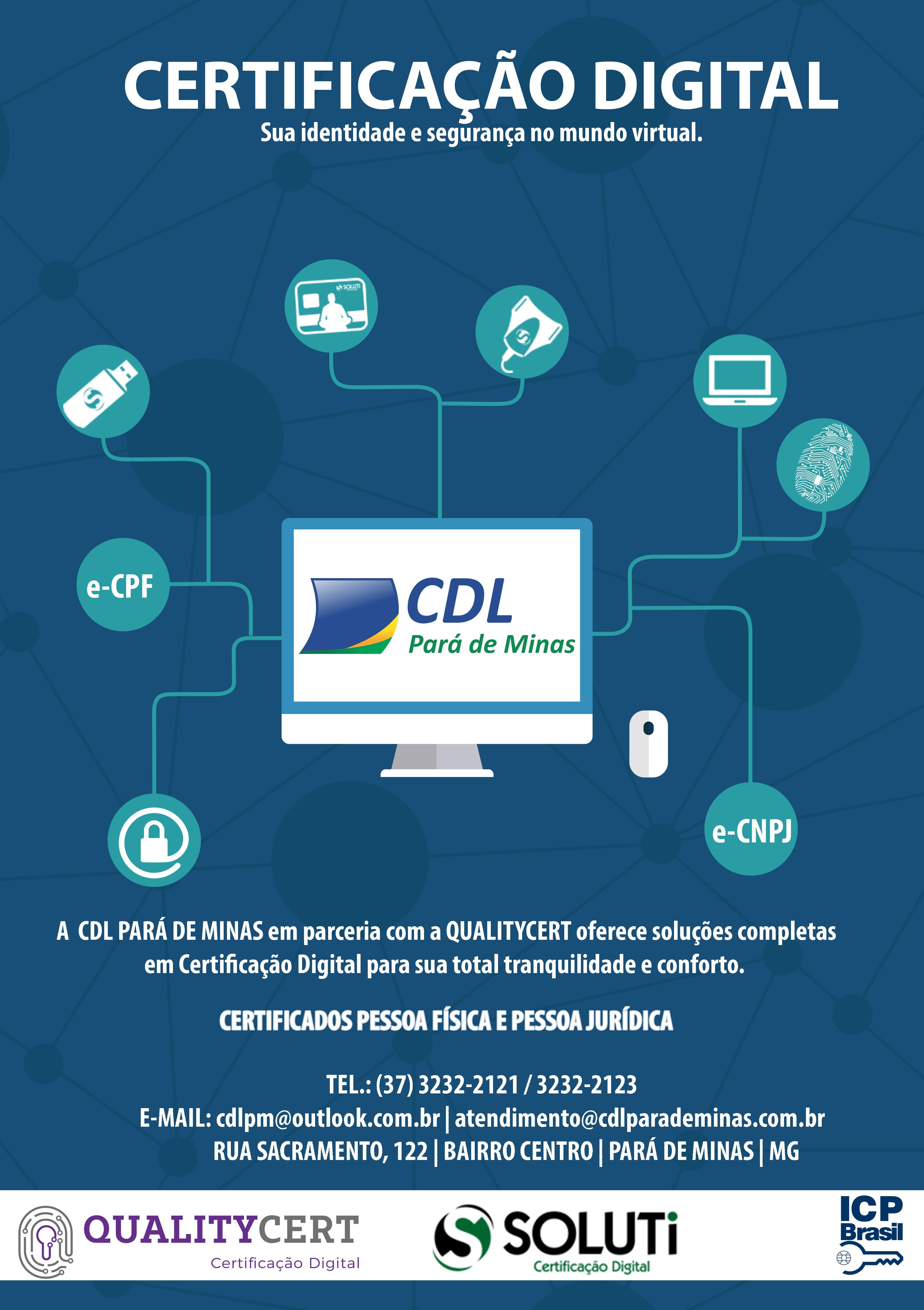 CDL AGORA TEM O SERVIÇO DE CERTIFICAÇÃO DIGITAL