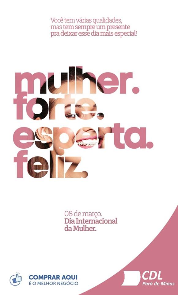 08 DE MARÇO- DIA DAS MULHERES