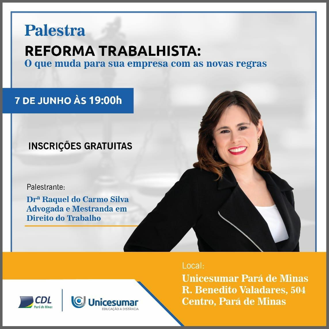 PALESTRA REFORMA TRABALHISTA
