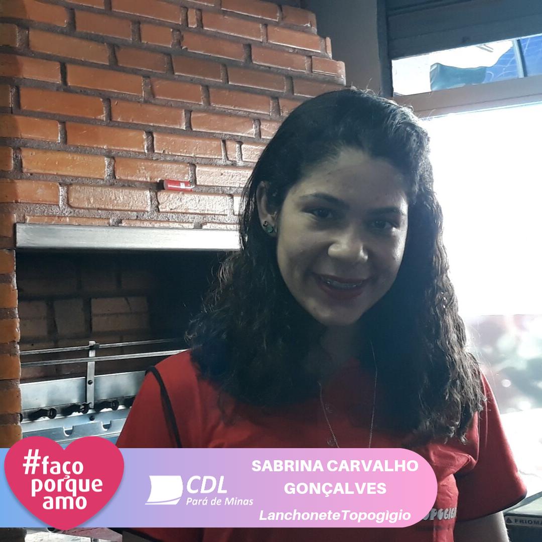 #FAÇOPORQUEAMO - SABRINA CARVALHO GONÇALVES