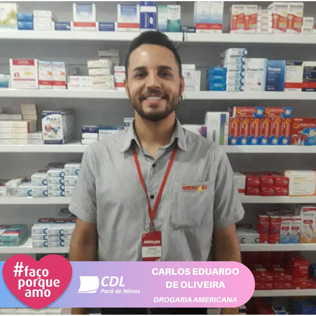 #FAÇOPORQUEAMO - CARLOS EDUARDO DE OLIVEIRA